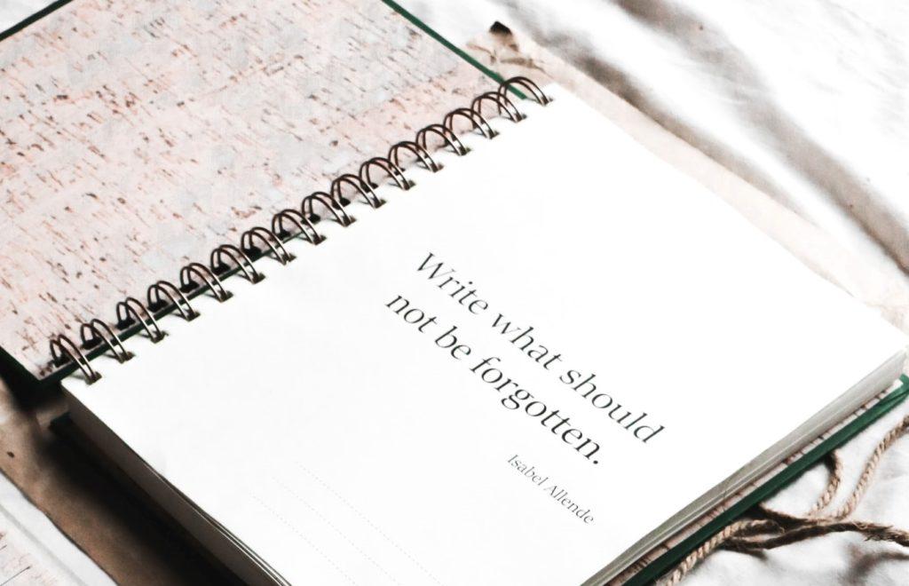 escribe lo que debería olvidarse